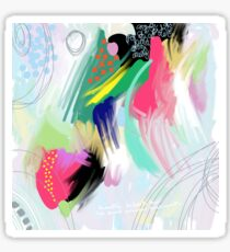 Pastel Abstract  Painting Sticker