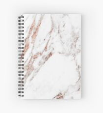 Rose gold vein marble Spiral Notebook