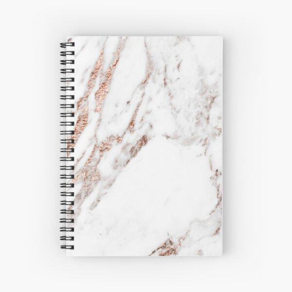 Rose gold vein marble Spiral Notebook