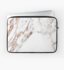 Rose gold vein marble Laptop Sleeve