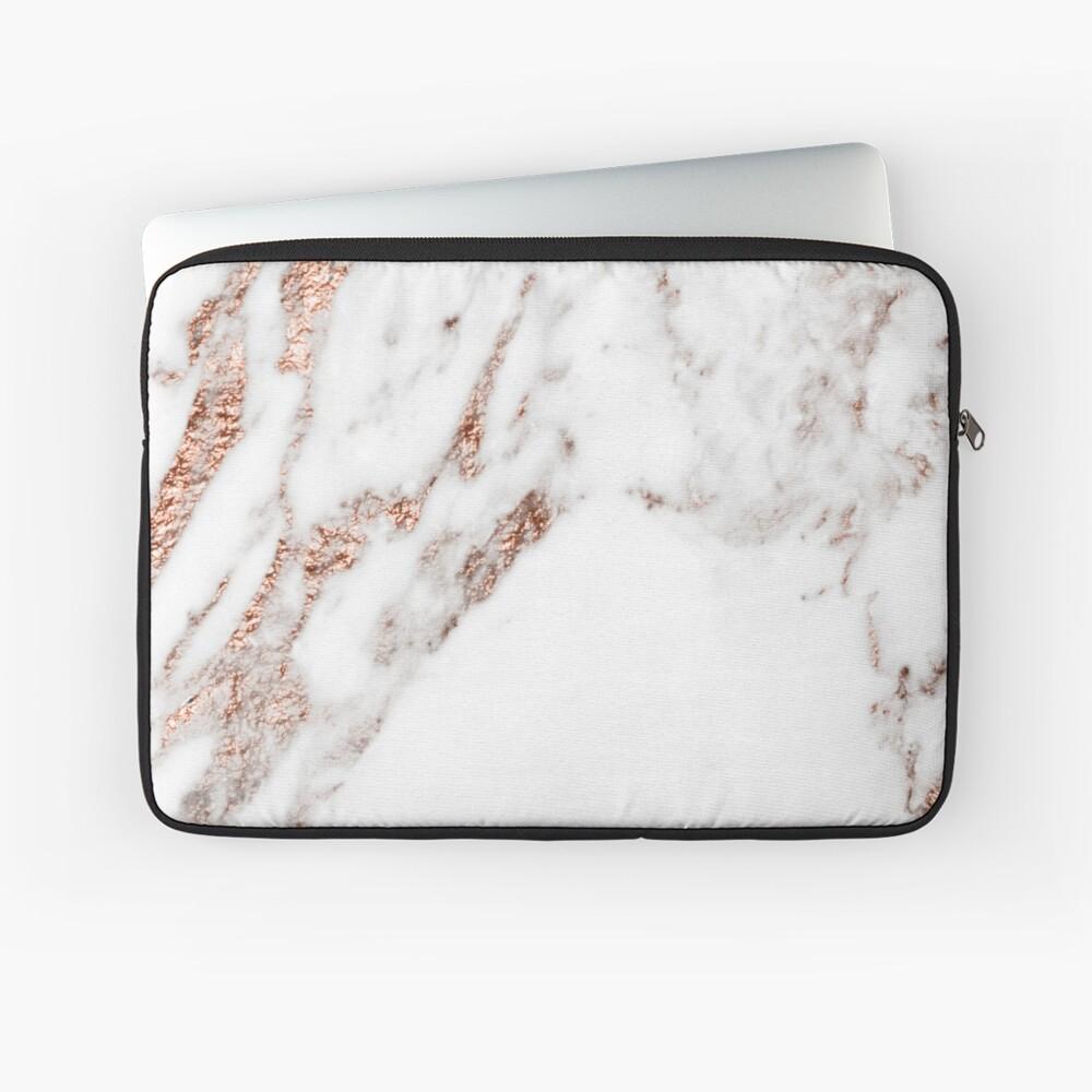 Roségold Ader Marmor Laptoptasche