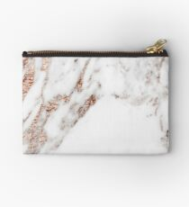 Rose gold vein marble Zipper Pouch