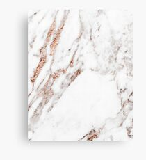 Rose gold vein marble Metal Print