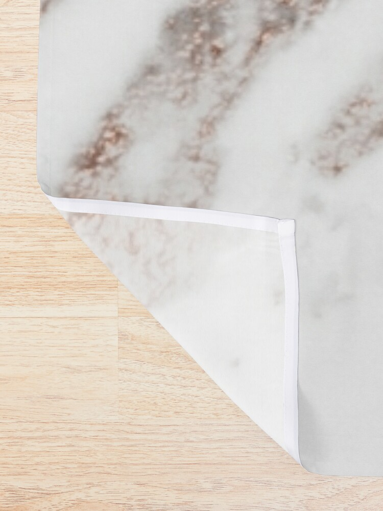 Alternate view of Rose gold vein marble Shower Curtain