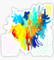 Brigt MultiColors Abstract Painting Sticker
