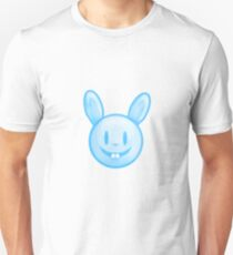 Blue Easter Bunny Illustration T-Shirt