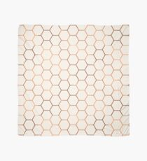 Rose gold copper honeycomb Scarf