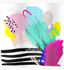 Modern Abstract Painting Poster