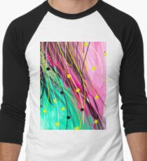 Modern Abstract Painting Men's Baseball ¾ T-Shirt