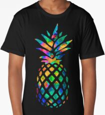 Rainbow Pineapple Long T-Shirt