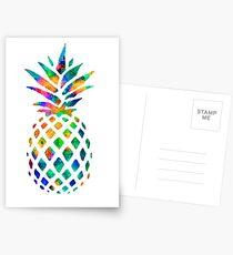 Rainbow Pineapple Postcards