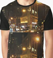 City Lights in New York City Graphic T-Shirt