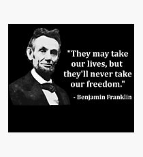 Abraham Lincoln Troll Quote Photographic Print