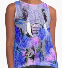ELEPHANT AND FLOWERS Contrast Tank