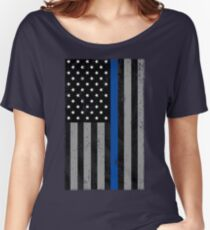 Thin Blue Line Flag Women's Relaxed Fit T-Shirt