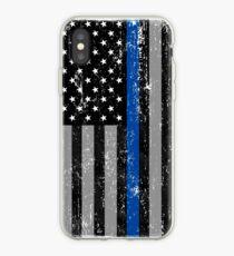 Thin Blue Line Flag iPhone Case