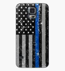 Thin Blue Line Flag Case/Skin for Samsung Galaxy