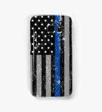 Thin Blue Line Flag Samsung Galaxy Case/Skin
