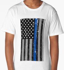 Thin Blue Line Flag Long T-Shirt