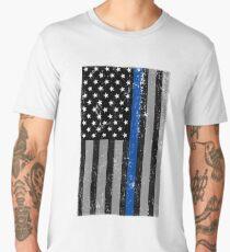 Thin Blue Line Flag Men's Premium T-Shirt