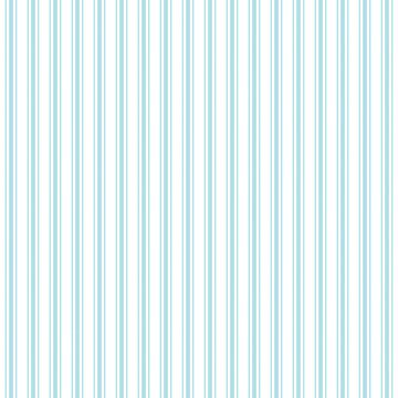 Pale Sky Blue and White Striped Mattress Ticking by podartist