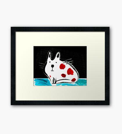 Flat Cat Framed Print