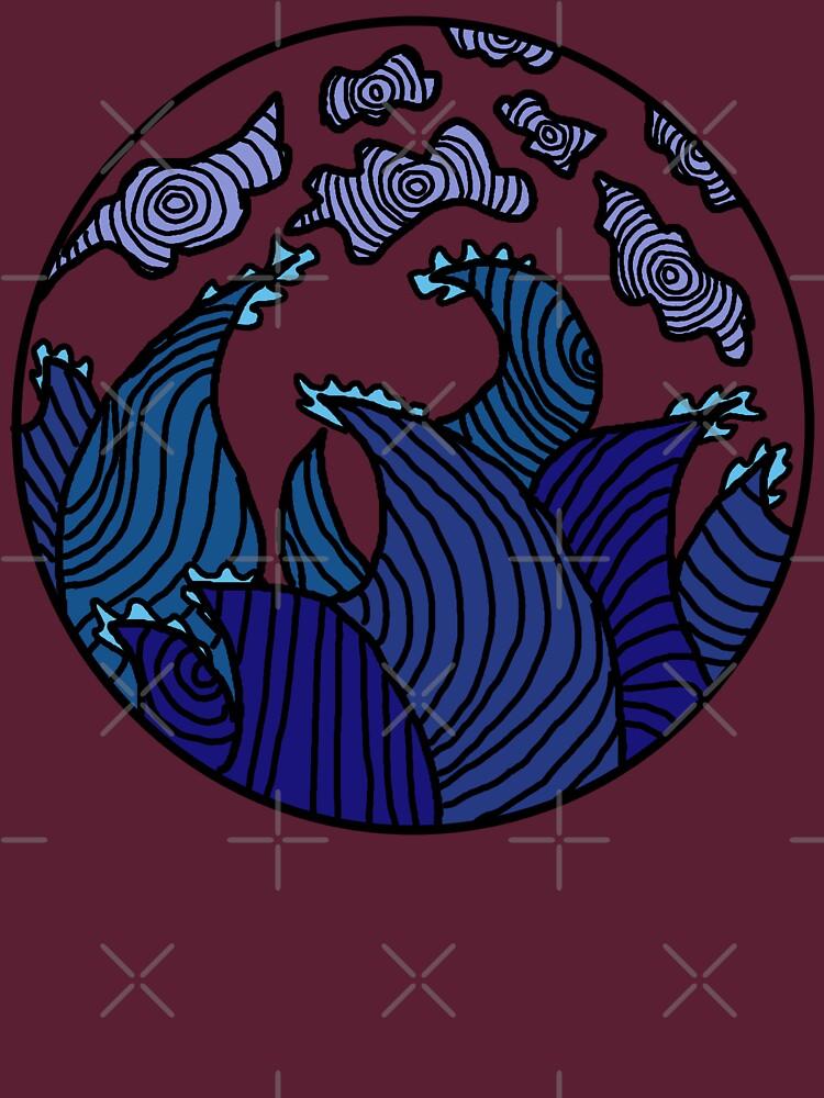 Blue Waves by LozzaElizabeth