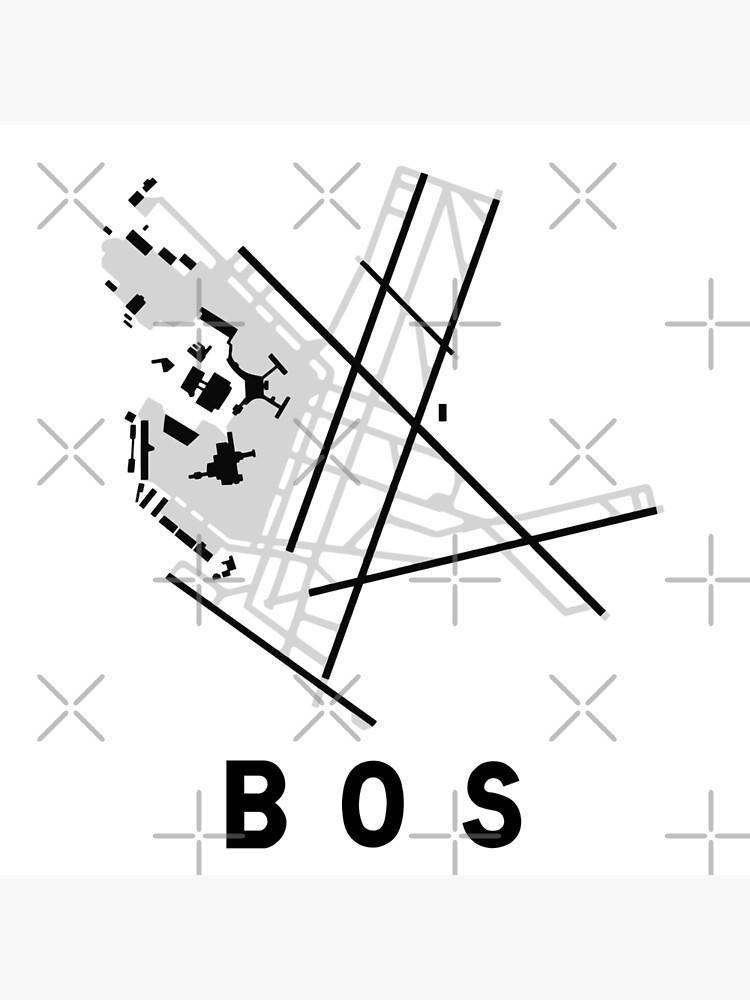 Boston Logan Airport Diagram Canvas Print By Vidicious