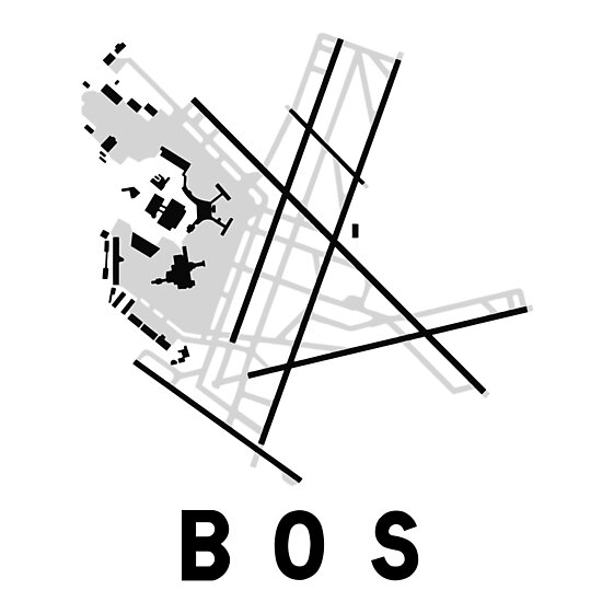 Boston Logan Airport Diagram Photographic Prints By Vidicious