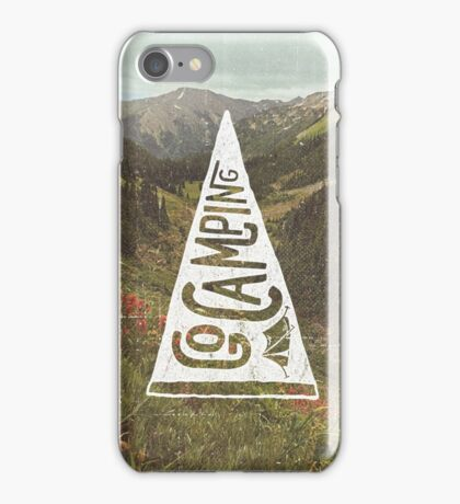 Go Camping iPhone Case/Skin