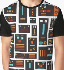 Crazy Robot Friends Graphic T-Shirt