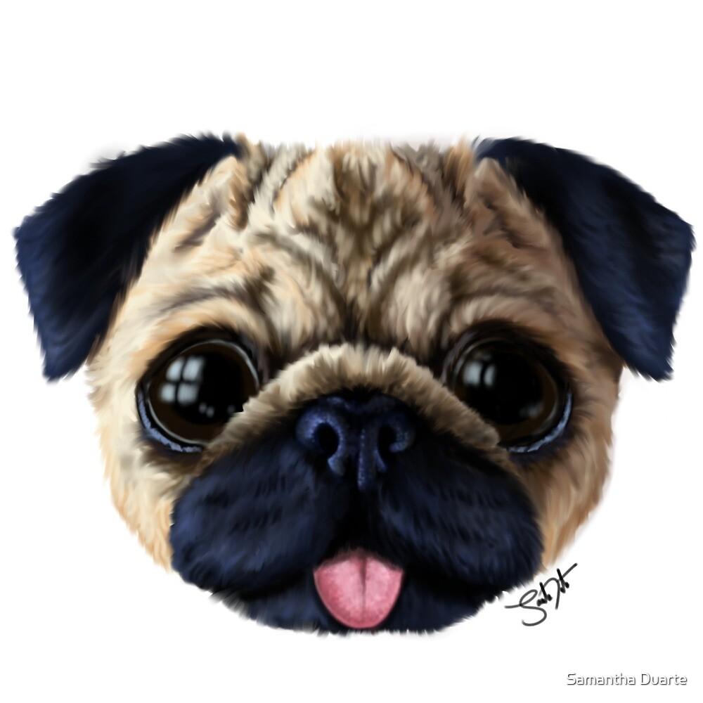 Lil Pug by Samantha Duarte