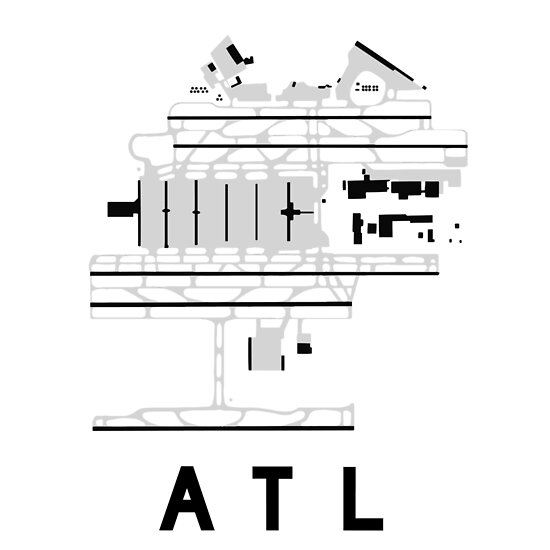 Atlanta Hartsfield Airport Diagram Posters By Vidicious Redbubble
