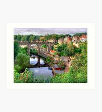 View From The Castle - Knaresborough Art Print