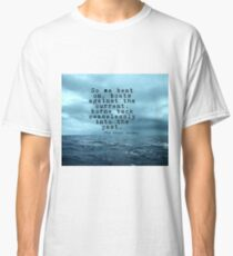 So we beat on - Gatsby quote on the dark ocean Classic T-Shirt
