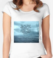 So we beat on - Gatsby quote on the dark ocean Women's Fitted Scoop T-Shirt