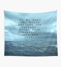 So we beat on - Gatsby quote on the dark ocean Wall Tapestry