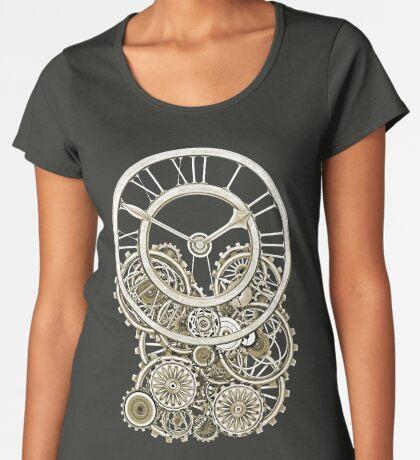 Stylish Vintage Steampunk Timepiece Vintage Style Steampunk T-Shirts Premium Scoop T-Shirt