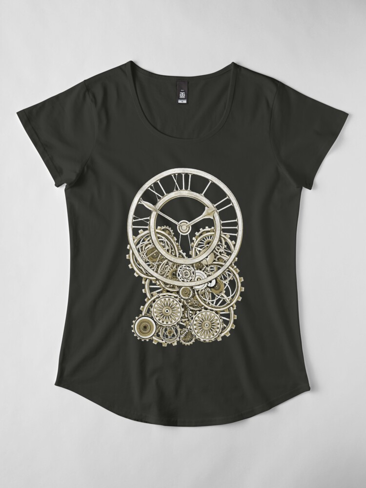 Alternate view of Stylish Vintage Steampunk Timepiece Vintage Style Steampunk T-Shirts Premium Scoop T-Shirt