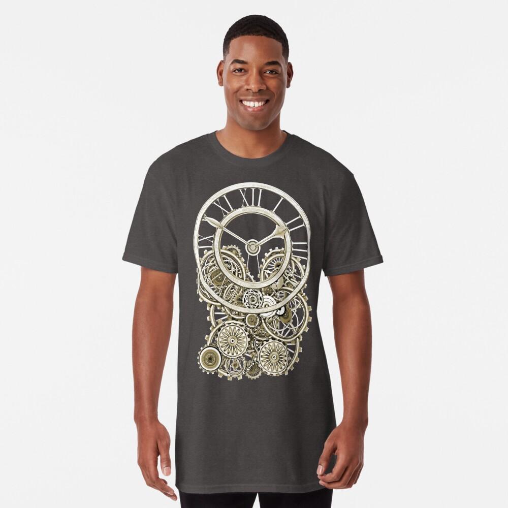 Stylish Vintage Steampunk Timepiece Vintage Style Steampunk T-Shirts Long T-Shirt
