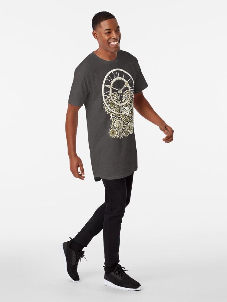 Alternate view of Stylish Vintage Steampunk Timepiece Vintage Style Steampunk T-Shirts Long T-Shirt