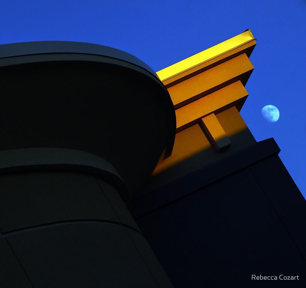Deco Moon by Rebecca Cozart