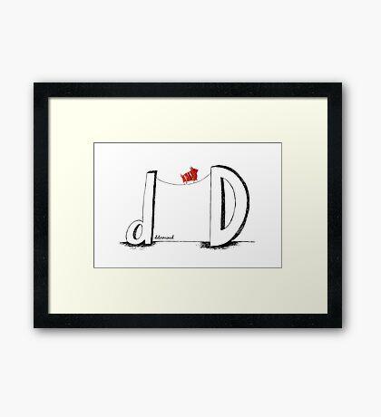 D is for Determined  Framed Print
