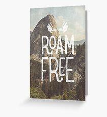 Tarjeta de felicitación ROAM FREE