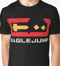 Eagle Jump - White Graphic T-Shirt