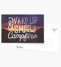 wake up & smell the campfire Postcards