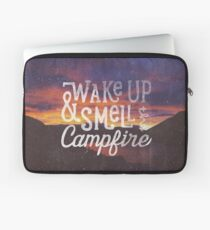wake up & smell the campfire Laptop Sleeve