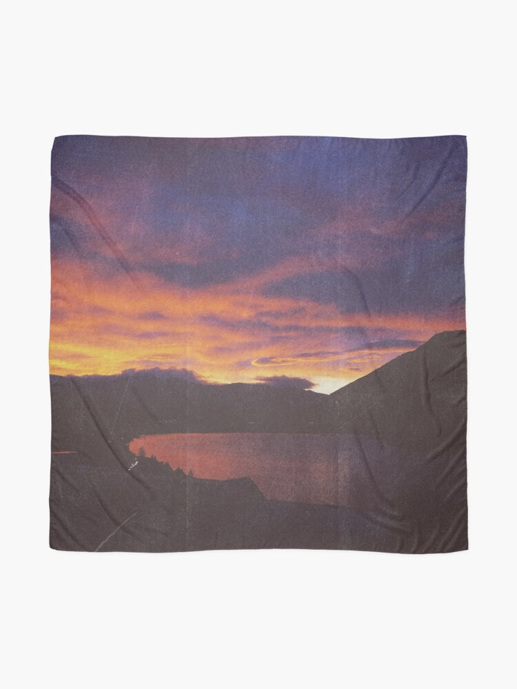 Alternate view of wake up & smell the campfire Scarf