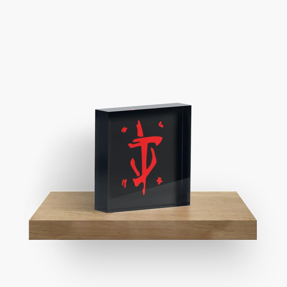 Mark of the Doom Slayer - Red Acrylic Block