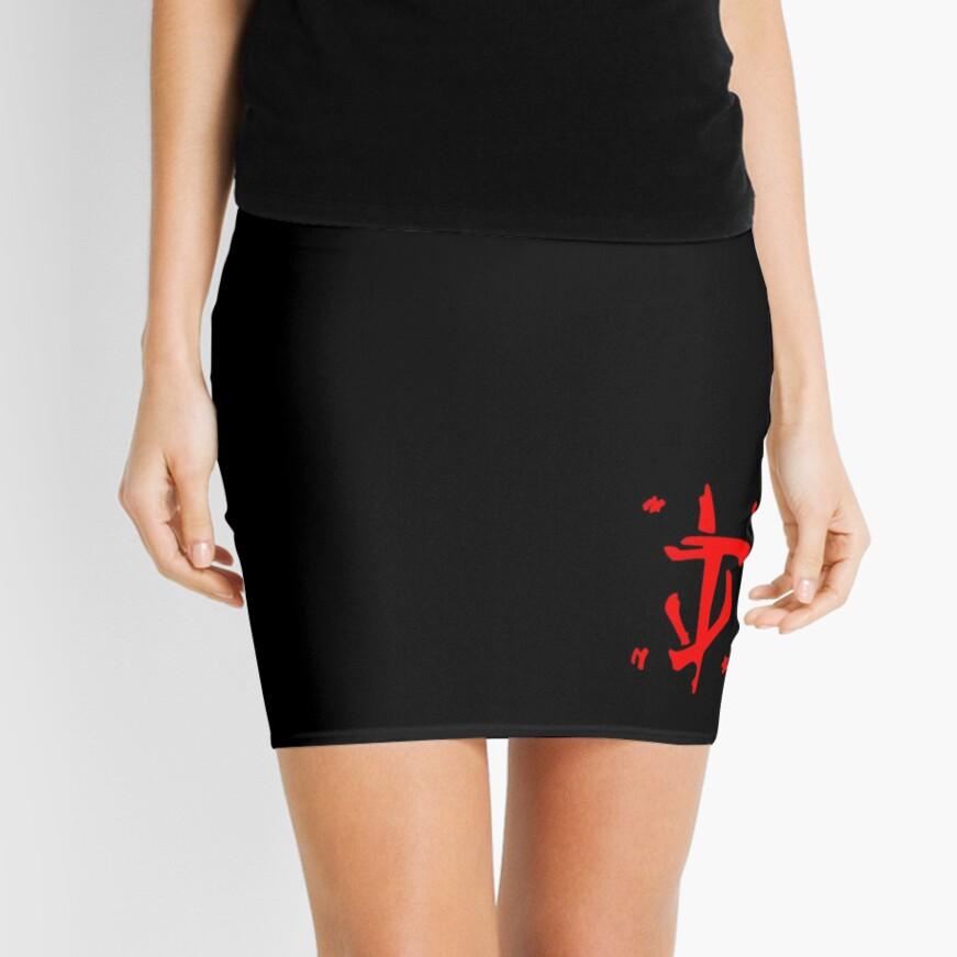 Mark of the Doom Slayer - Red Mini Skirt